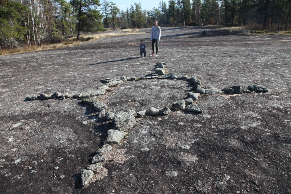 Fig. 5. Teaching Rocks (or Petroforms) in Whiteshell Provincial Park, Manitoba. Photograph by author.