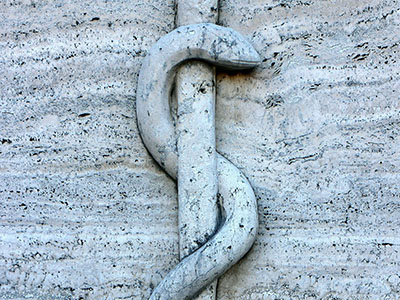 Rod of Asclepius Relief